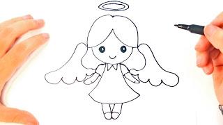 Youtube Como Dibujar Un Angel Para Ninos Dibujo De Angel Paso A