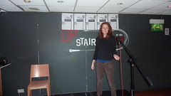Joanna Up Stairs before opening