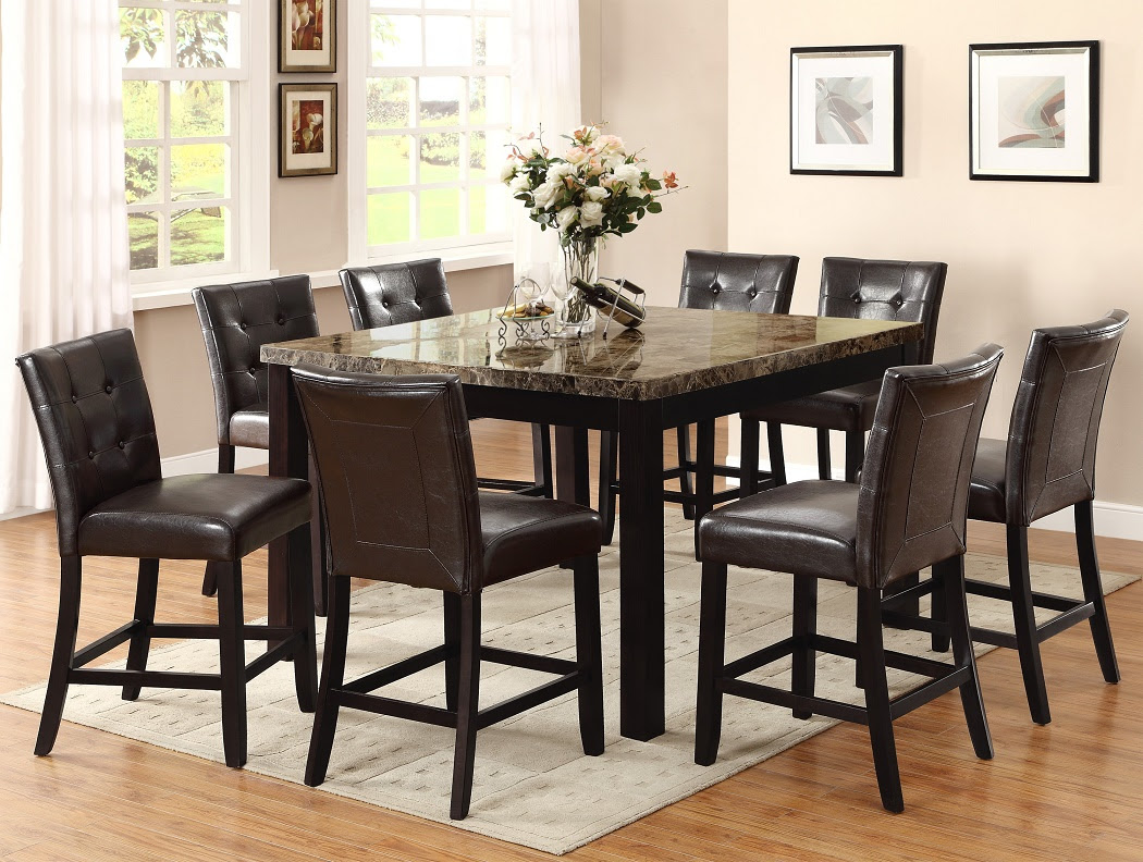 9pc Dining Table & 8 Chairs Uph Seat Back   Hot Sectionals