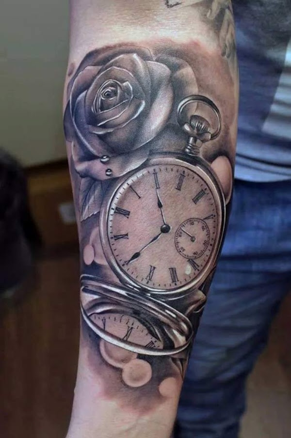 90 Pocket Watch Tattoos Thatll Wind Up Your Creativity