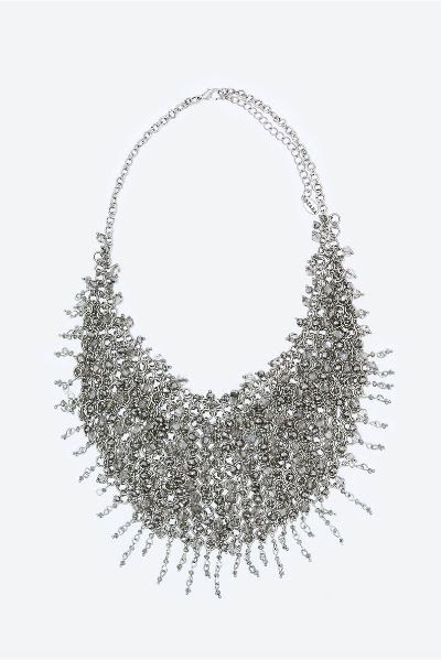Zara Metal Mesh and Crystal Necklace