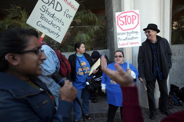 Protest against changes at Crenshaw High