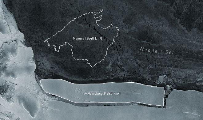 От Антарктиды откололся самый большой айсберг на нашей планете