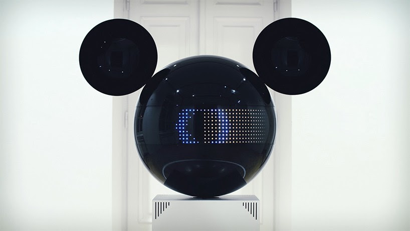 panGenerator animates listening mickey mouse installation using visual rhythmic playback