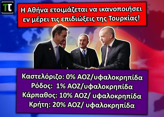 """""""Το Καστελόριζο αποχαιρετά την ΑΟΖ του""""! Η Αθήνα ετοιμάζεται να ικανοποιήσει τις επιδιώξεις της Τουρκίας!"""