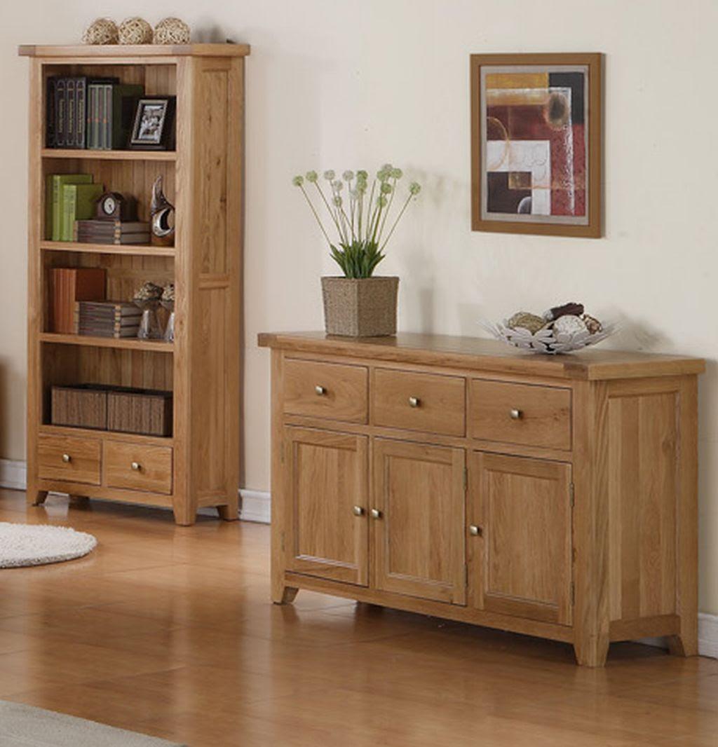 Devon solid oak living dining room furniture large storage ...
