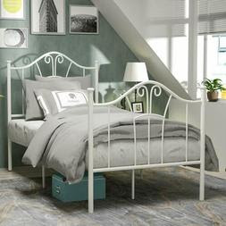 White Bedframe Metal Bed Frame