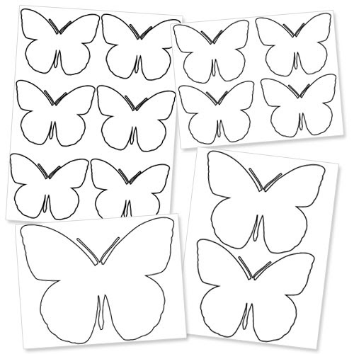 Number Names Worksheets : free printable butterfly template ~ Free ...