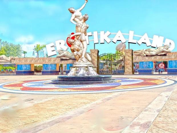 Perspectiva de parque temático erótico que deve ser construído na região de Piracicaba (Foto: Ilustração/Lajur:)