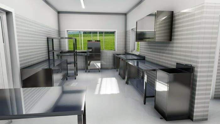 Conception Cuisine Restaurant Rendu Zone Lavage Logiciel Bim