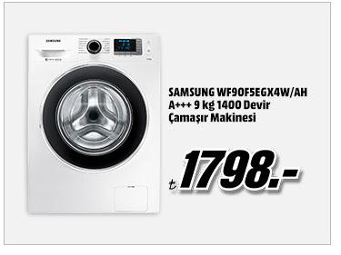 SAMSUNG WF90F5EGX4W/AH A+++ 9 kg 1400 Devir Çamaşır Makinesi 1798TL
