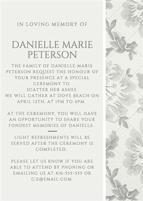 39 Best Funeral Reception Invitations   Invitations