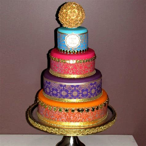 Bollywood/Moroccan 4 tier with flower ball   That's My Cake