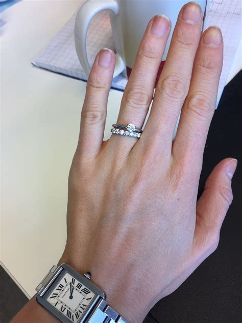 Is my wedding band overpowering my e ring? Show me your 7