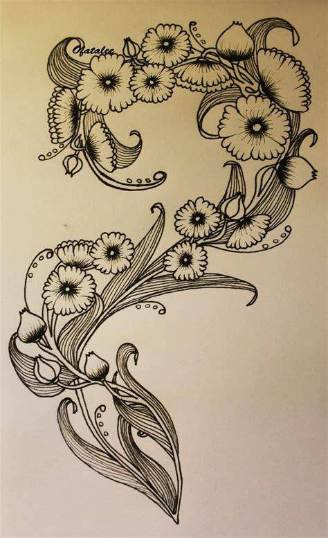 art nouveau flower tattoo tattoos pinterest posts