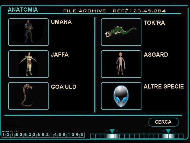 Stargate Commadn Database Xenobiologia-Anatomia