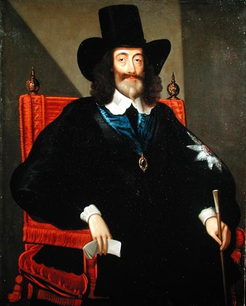 File:Charles I at his trial.jpg
