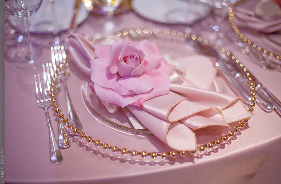 California wedding elegant romantic wedding reception place setting