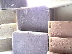 my last batches of soap - paled