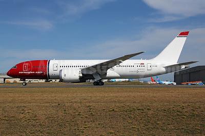 Norwegian Air Shuttle (Norwegian.com) (Norwegian Long Haul) Boeing 787-8 Dreamliner EI-LNB (msn 35305) PAE (James Helbock). Image: 913308.