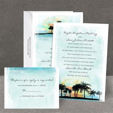 Tropical Watercolors All In One Invitation   Invitations