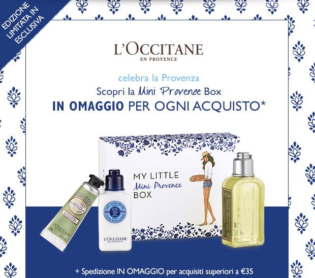 Scopri la Mini Provence Box IN OMAGGIO PER OGNI ACQUISTO*
