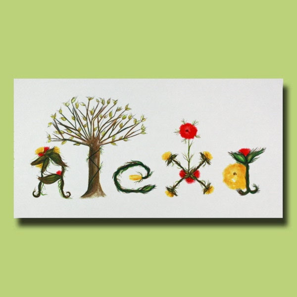 Popular items for baby letters art on Etsy