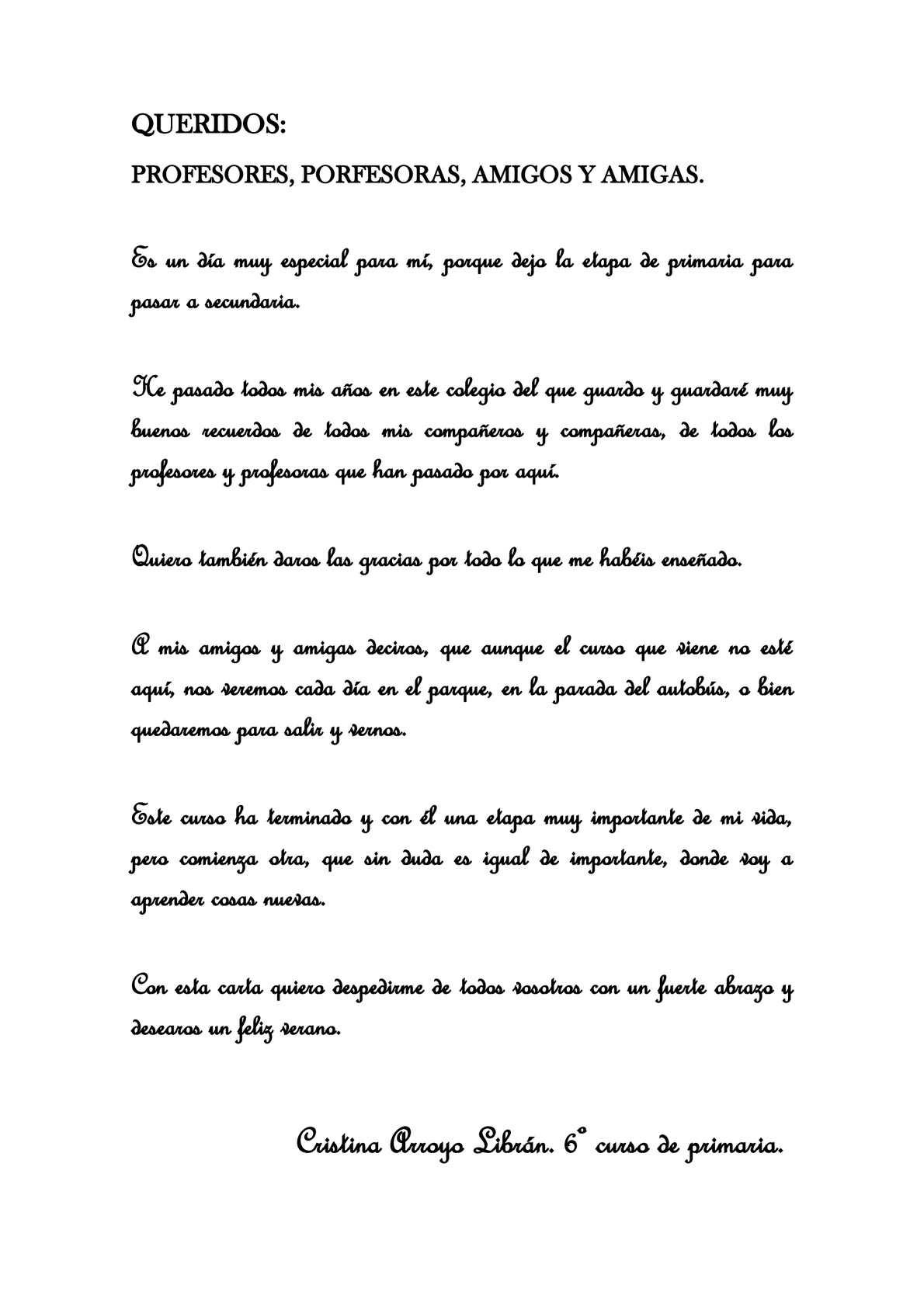 Calaméo Carta De Despedida