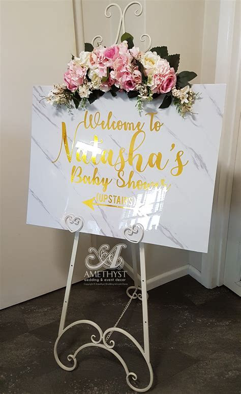 White Marble Welcome Board