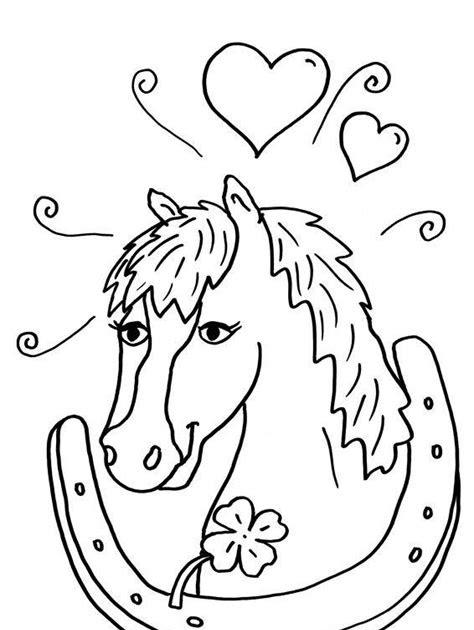 malvorlage pferd hufeisen  kostenlose malvorlagen ideen