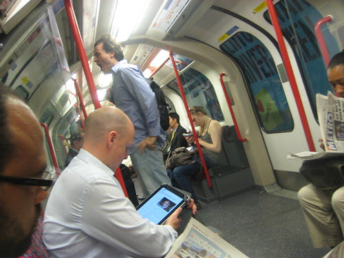 iPad on Tube