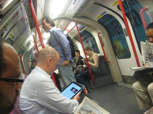 iPad on Tube by Annie Mole