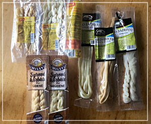 形状が独特なスロヴァキアのチーズ。見た目可愛い……♪