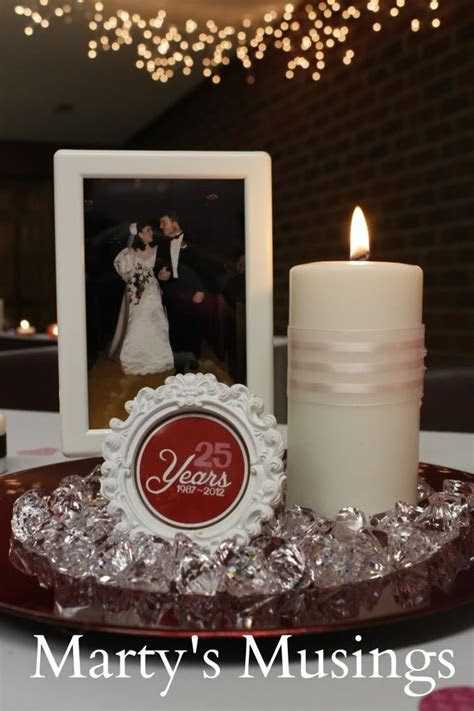 25th Anniversary Decorations: Vow Renewal Ideas   DIY