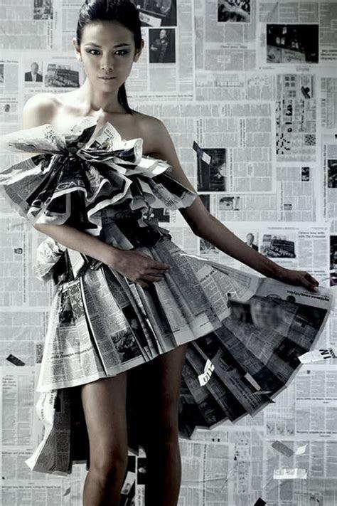 20 Creative Newspaper Craft Fashion Ideas   Hative