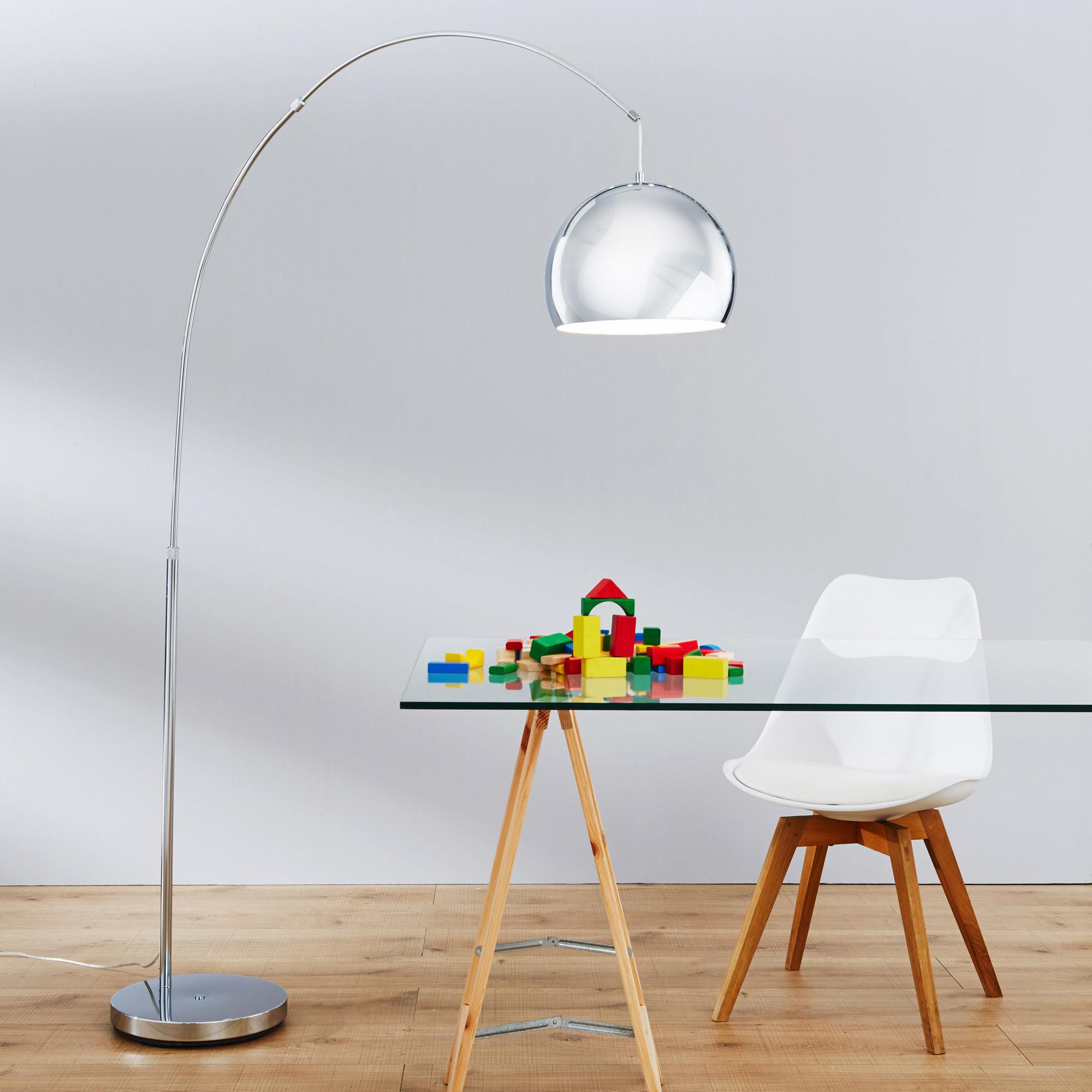 moderne bogenstehleuchte bogenlampe im lounge design h
