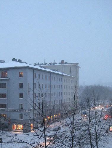 Lumipyry Töölössä