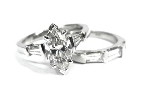 Marquise Diamond rings with tapered baguettes Sydney I Max