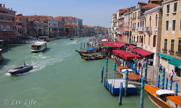 Venice, Grand Canal, View from Rialto Bridge