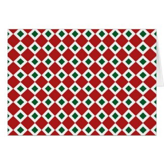 Christmas Diamond Pattern Greeting Card