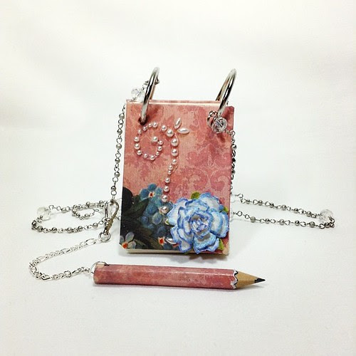 New product in the works.  A new type of book necklace. Be sure to look for them in the new year.           #notebook #necklace #jewelry #pencil #chain #journal #craftydaydreams #notes