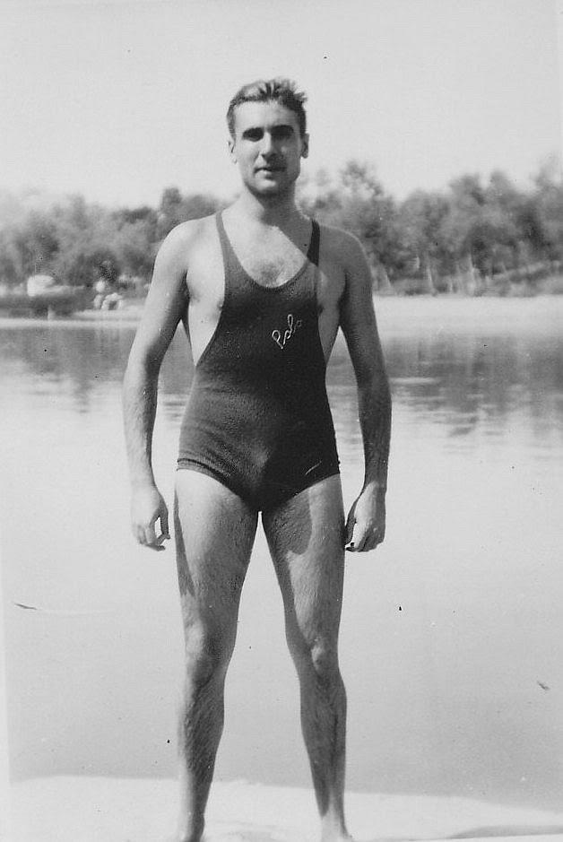 Andrés López Rey en el Tajo, años 30.  Fotografía de Eduardo Butragueño Bueno