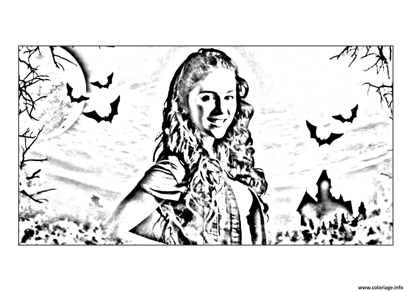 Coloriage Chica Vampiro Daisy Devant Son Chateau Jecoloriecom