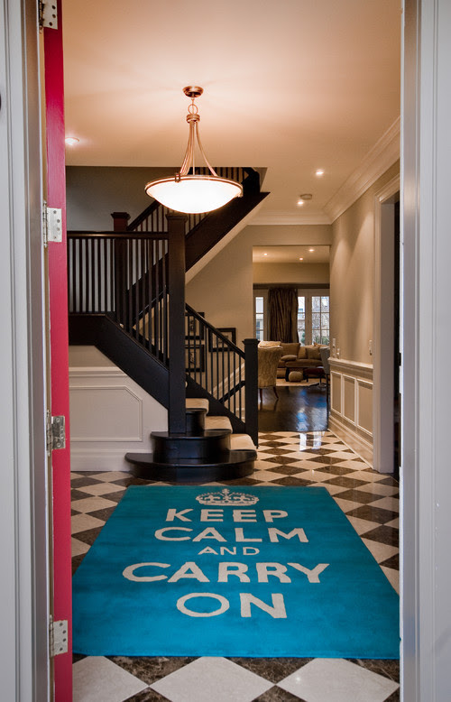 Keep Calm contemporary entry