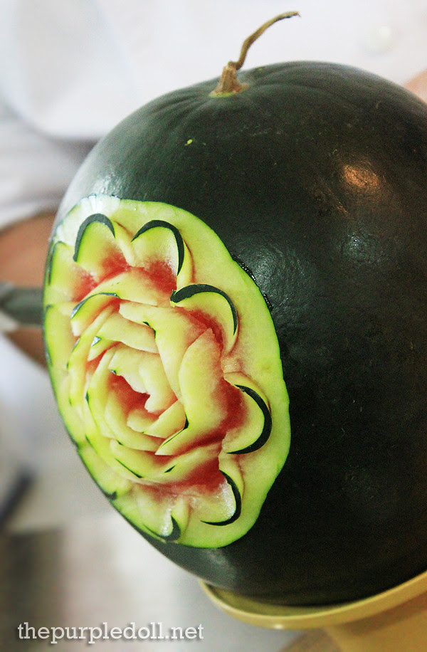 Carved Watermelon by Chef Billy Anislag