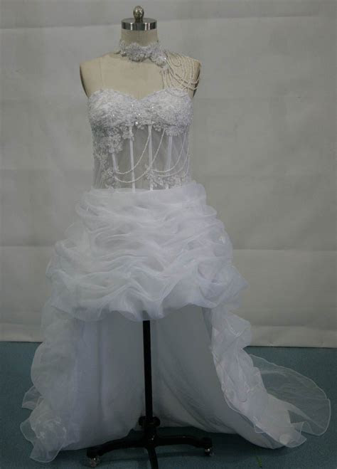 See through corset bridal wedding dress.