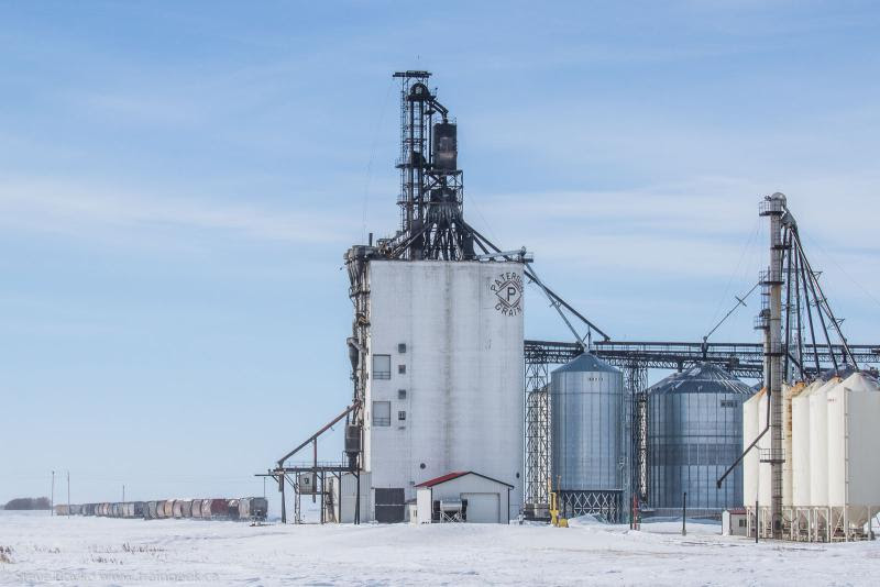 New Paterson grain elevator in Morris Manitoba