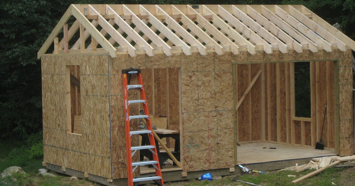 16x24 Storage Building : Bari plans for a storage shed