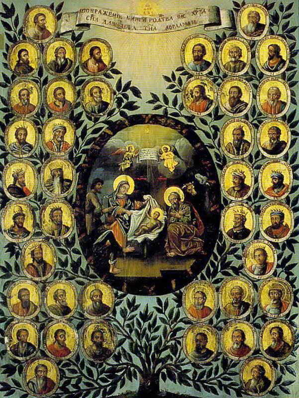 Αποτέλεσμα εικόνας για γενεαλογία του Χριστού