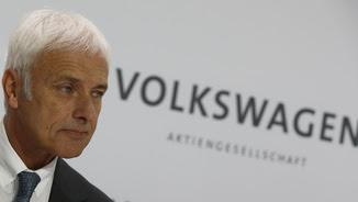 Matthias Müller, president de Volkswagen, durant la compareixença informativa d'aquest dijous (Reuters)